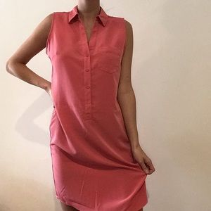 The Limited Coral Button Down Dress